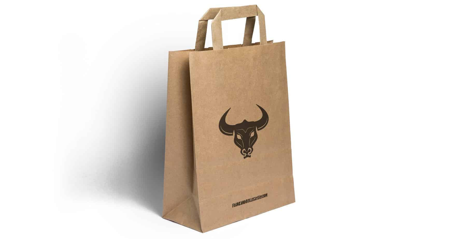 Custom Printed Flat Handle Paper Bags