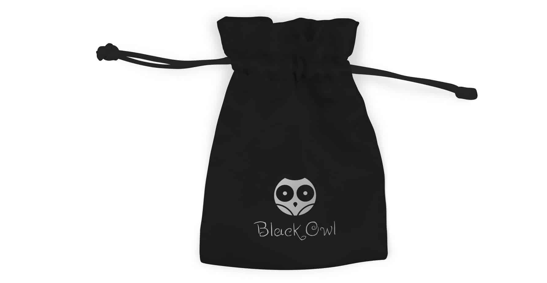 Printed Bespoke Jewellery Satin Pouch Drawstring Bag