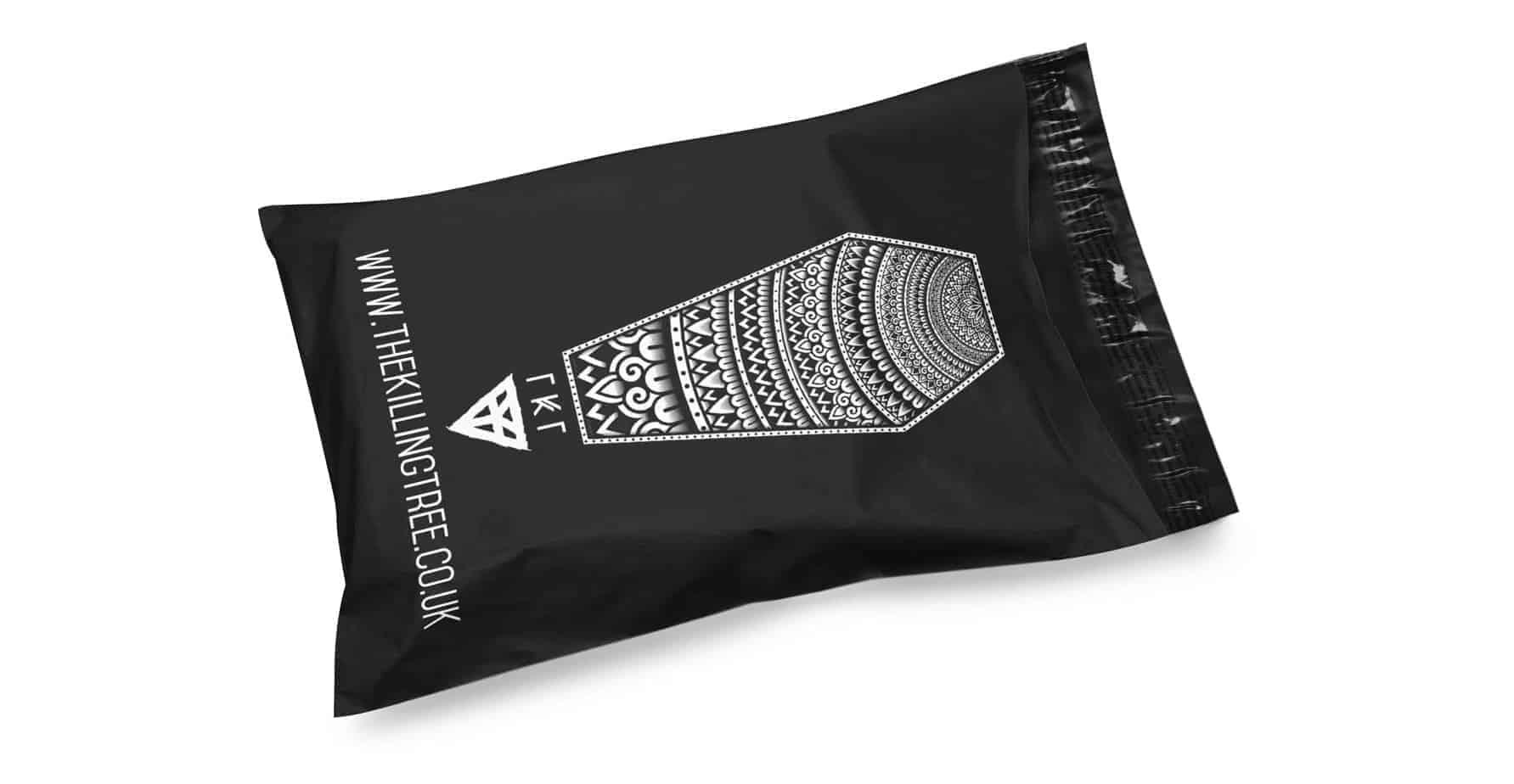 Black Custom Printed Mailing Bag