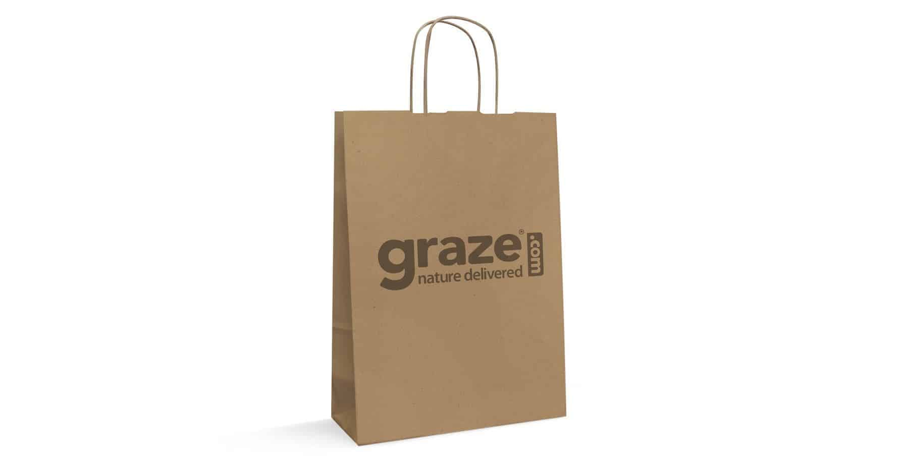 Brown Natural Custom Twisted Paper Bags