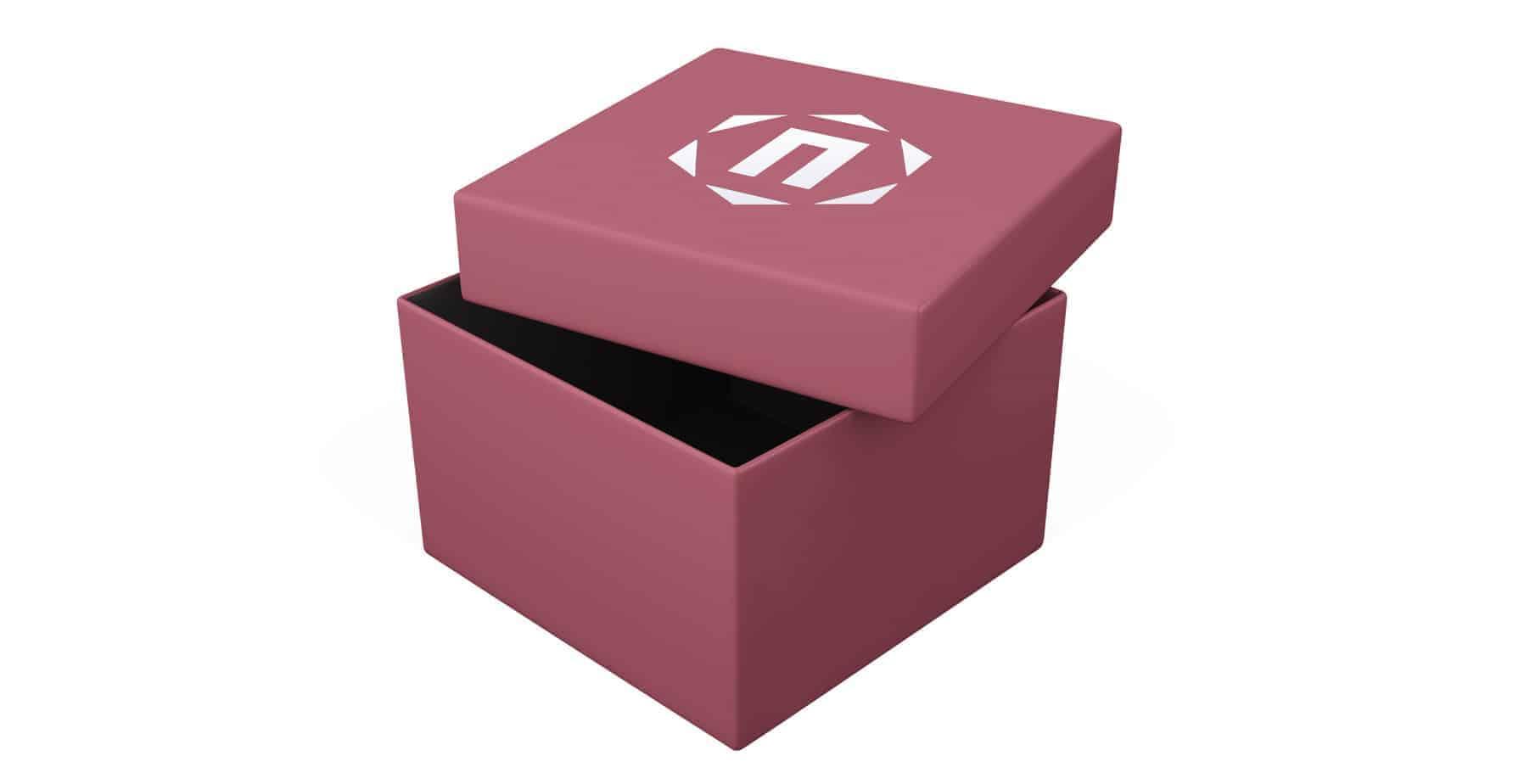 Red White Custom Printed Jewellery Box