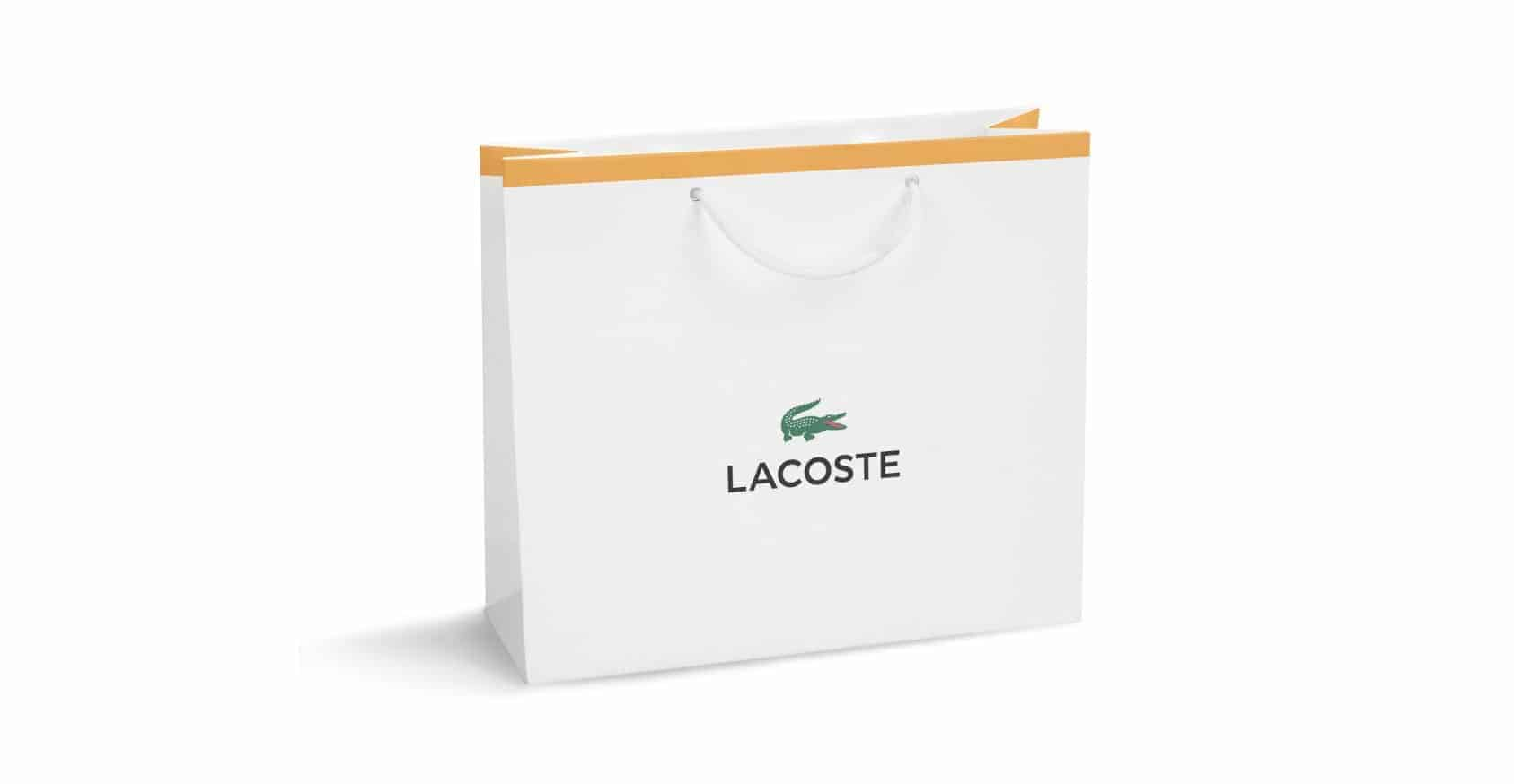 White Yellow Printed Paper Bags with Rope or Ribbon Handle