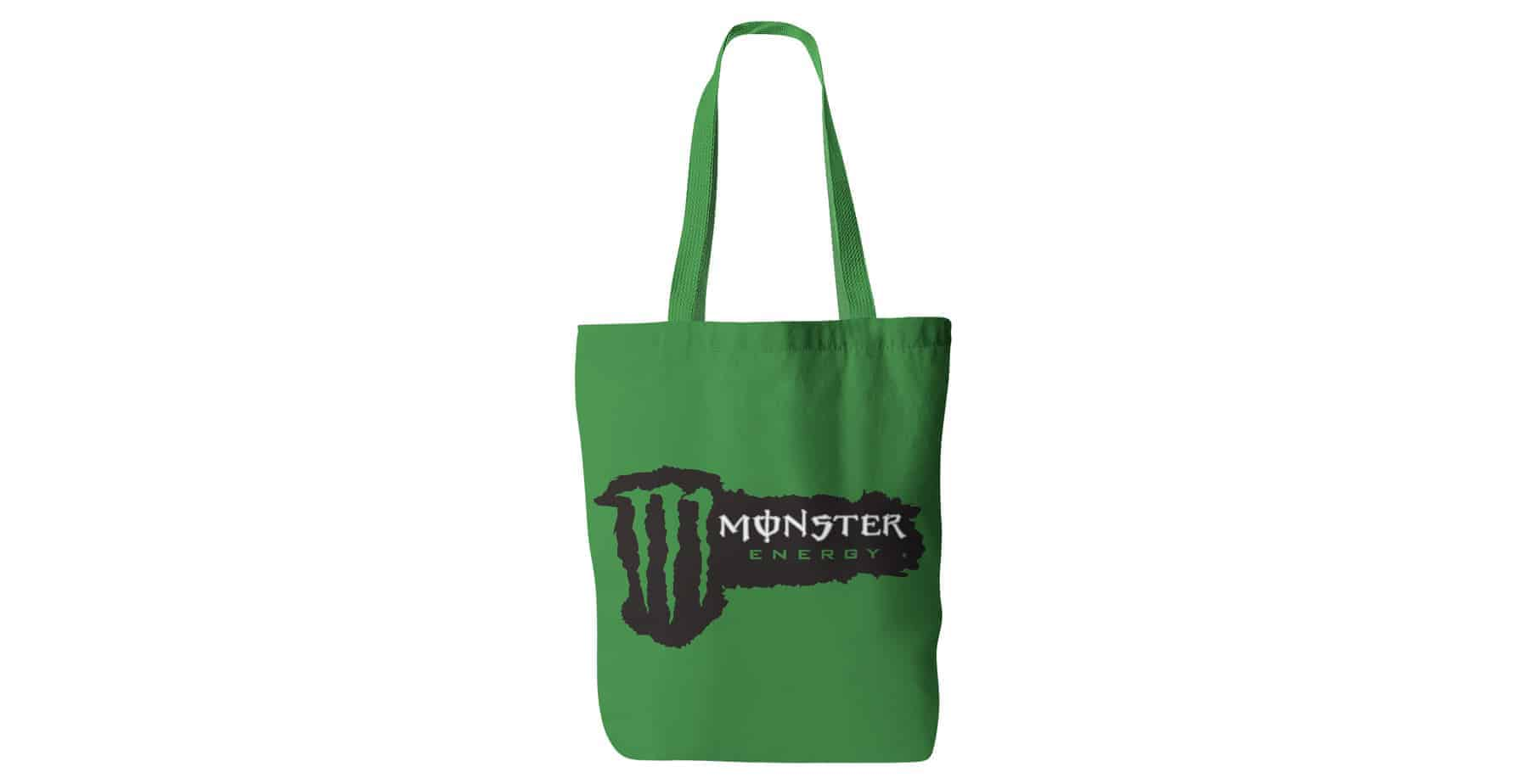 Monster Personalised Printed Cotton Tote Bags