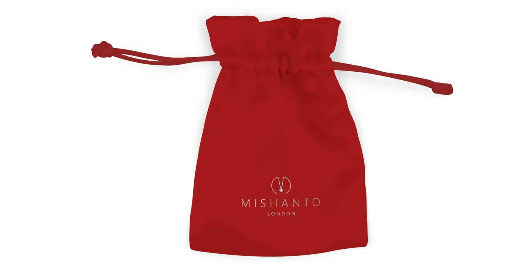 Mishanto London Red White Personalised Jewellery Bags