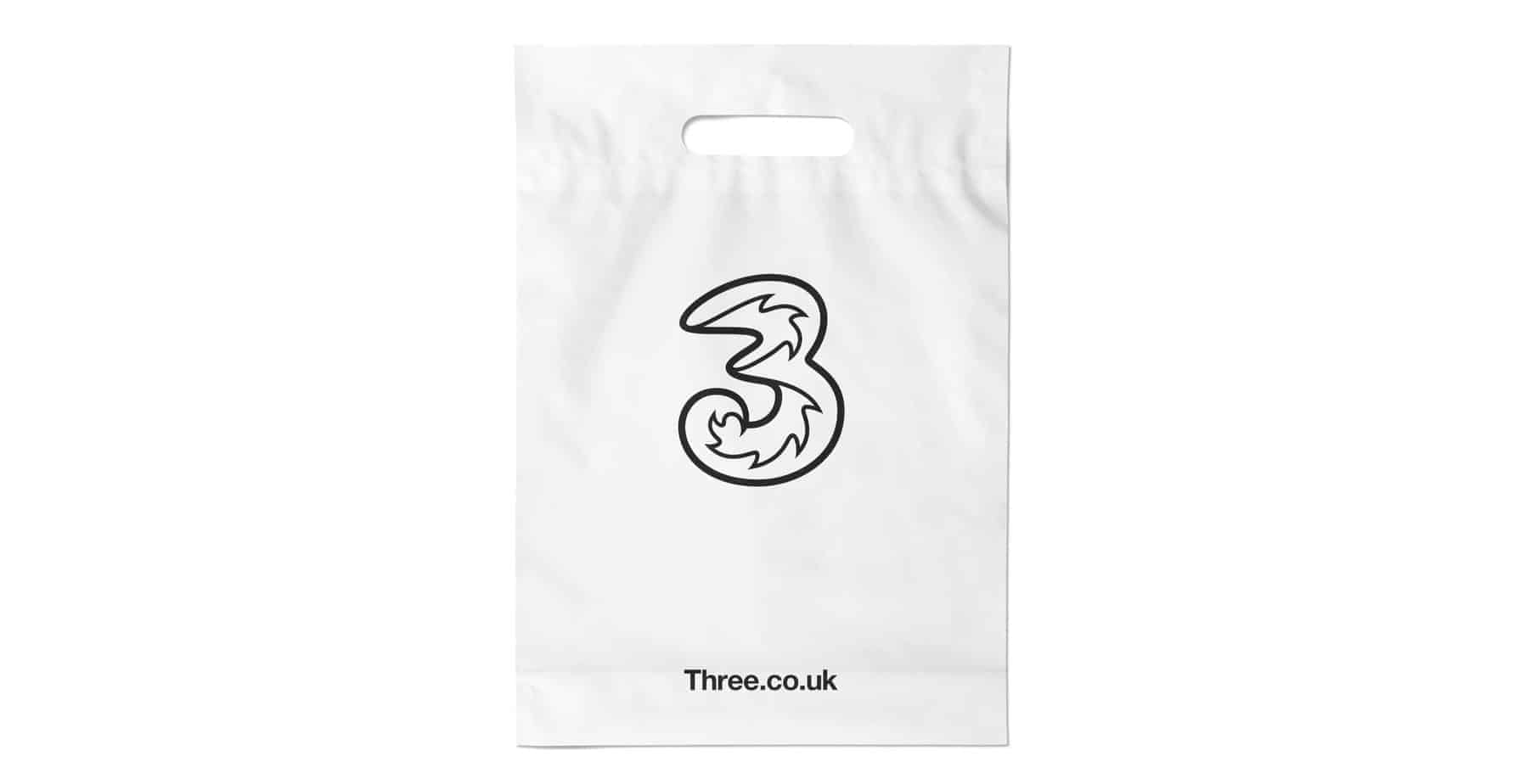 White Custom Printed Plastic Bag
