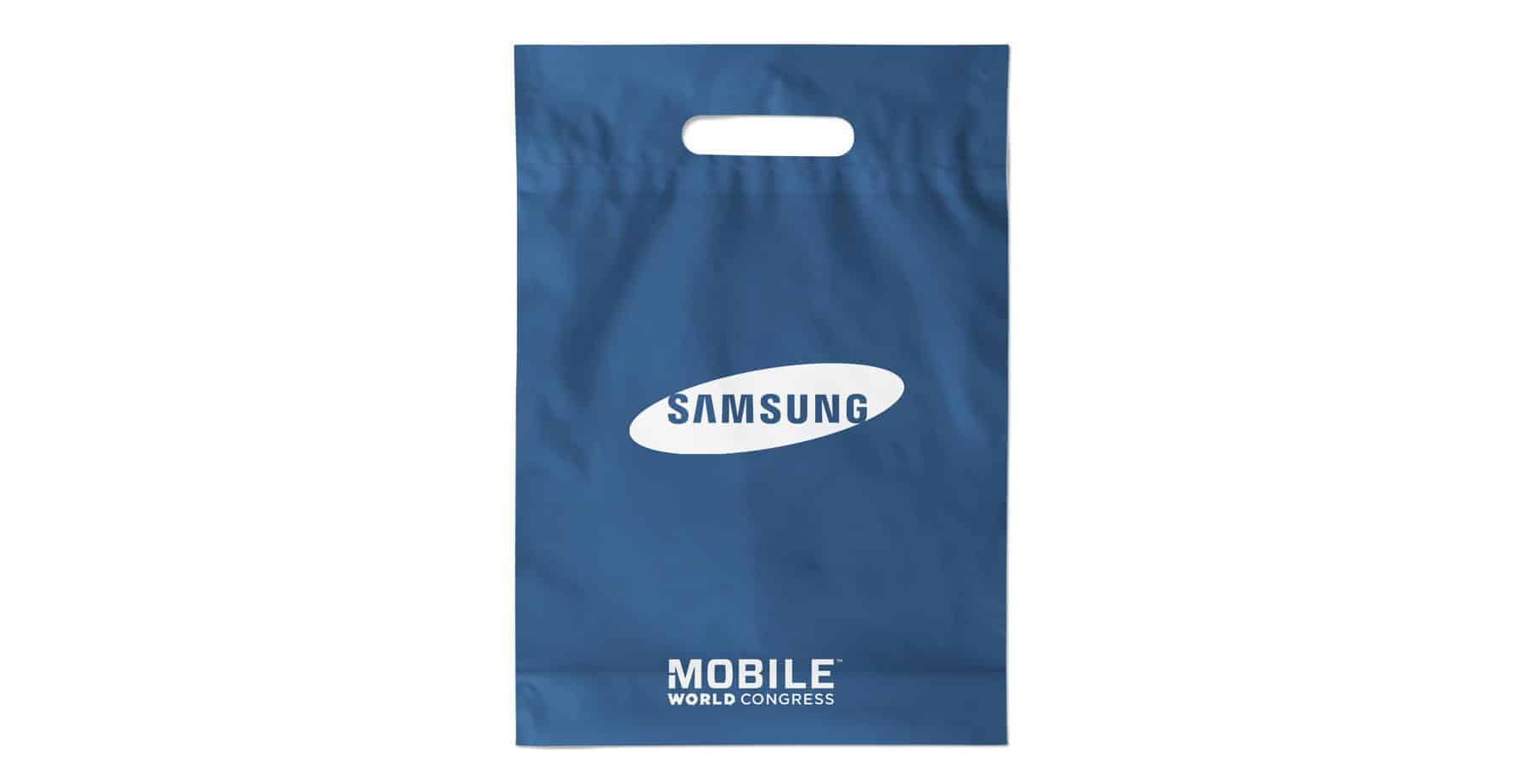 Custom Printed Plastic Bag Blue