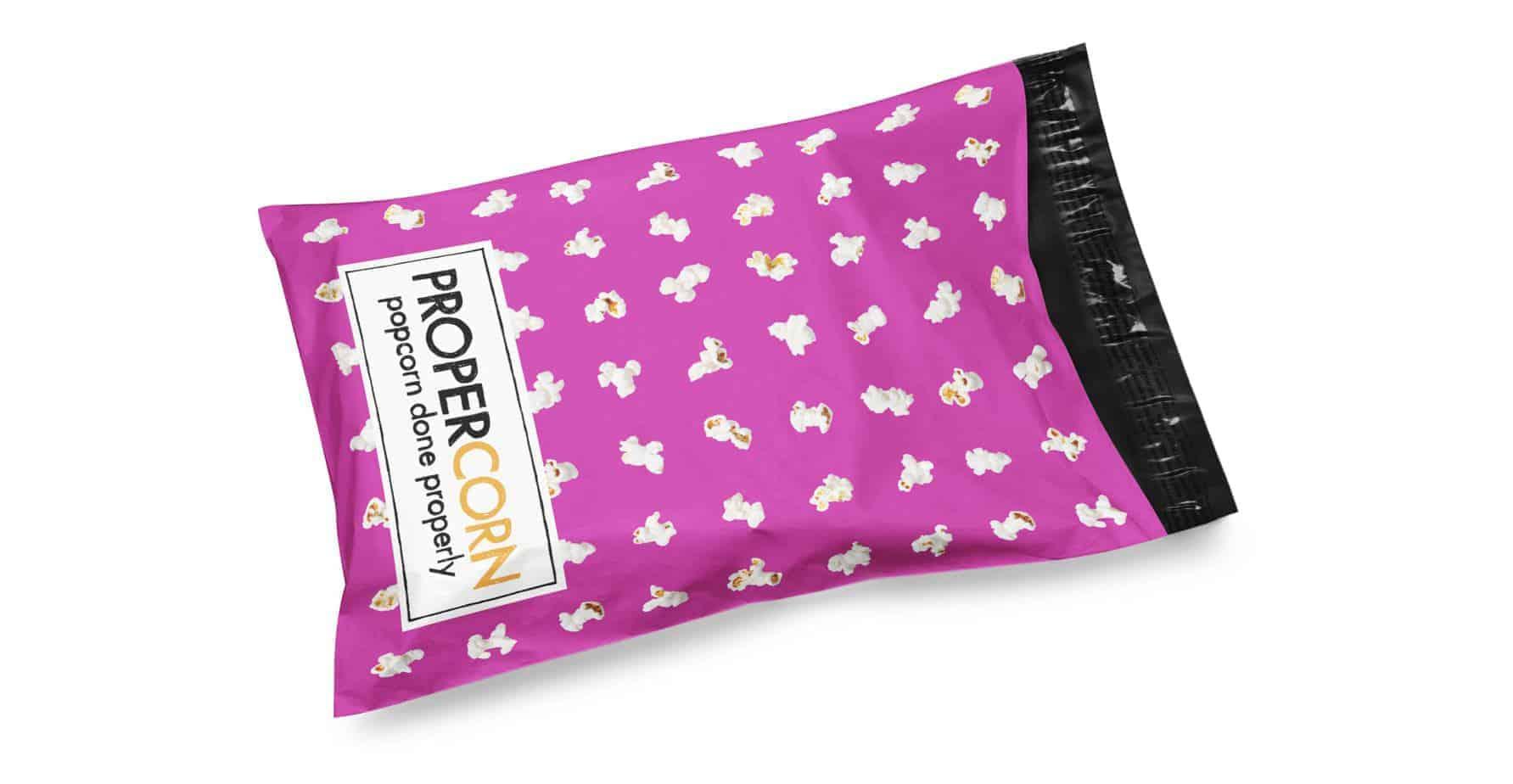 Propercorn Pink Custom Printed Mailing Bags / Printed Postal Bags
