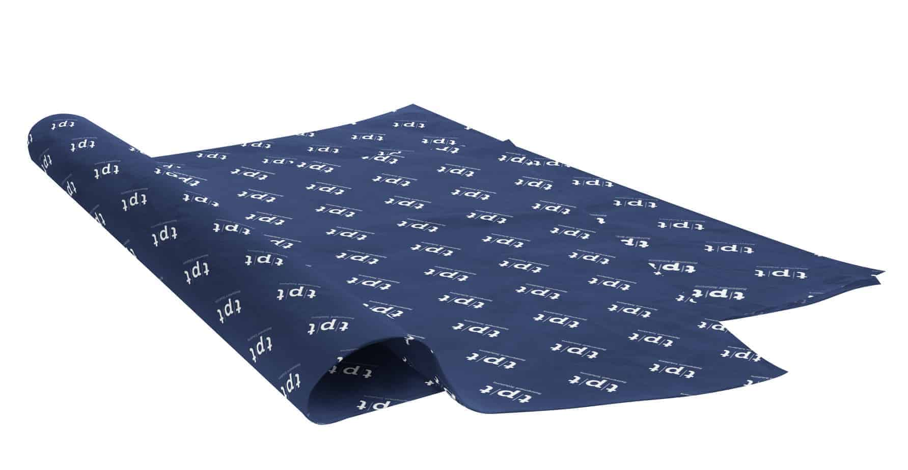custom personalised printed navy tissue paper