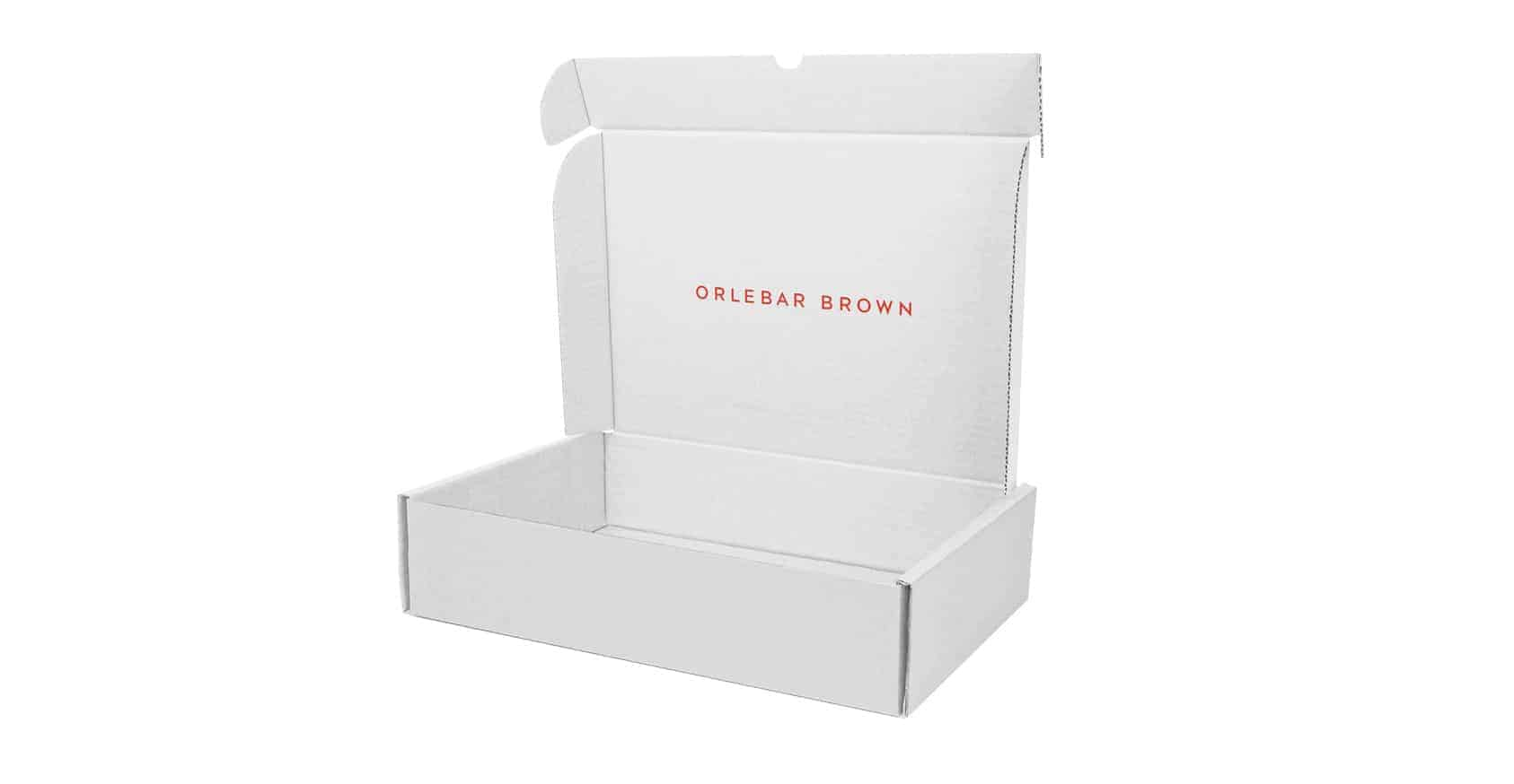 white mailing box inside print
