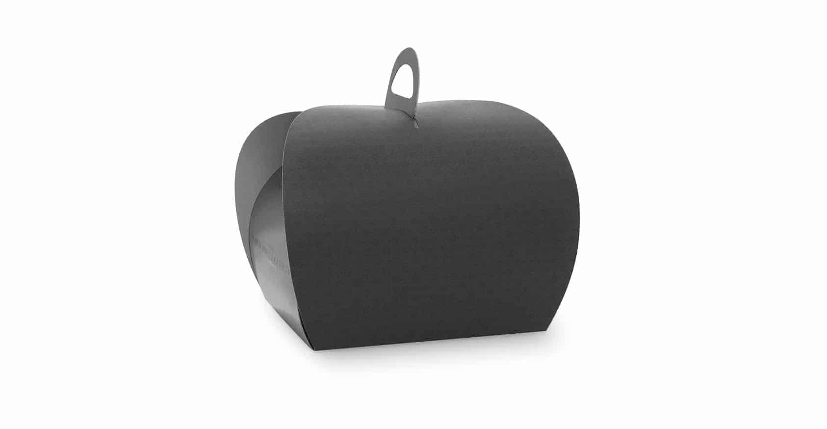 Custom Printed Black Cake Box Spot UV Printed