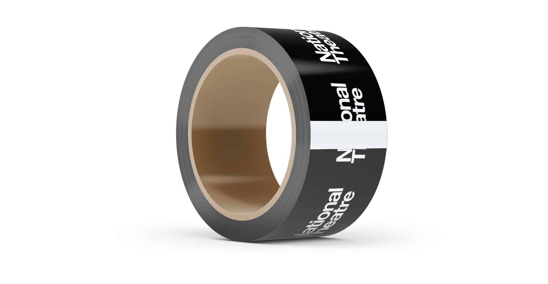 Black Custom Printed Tape