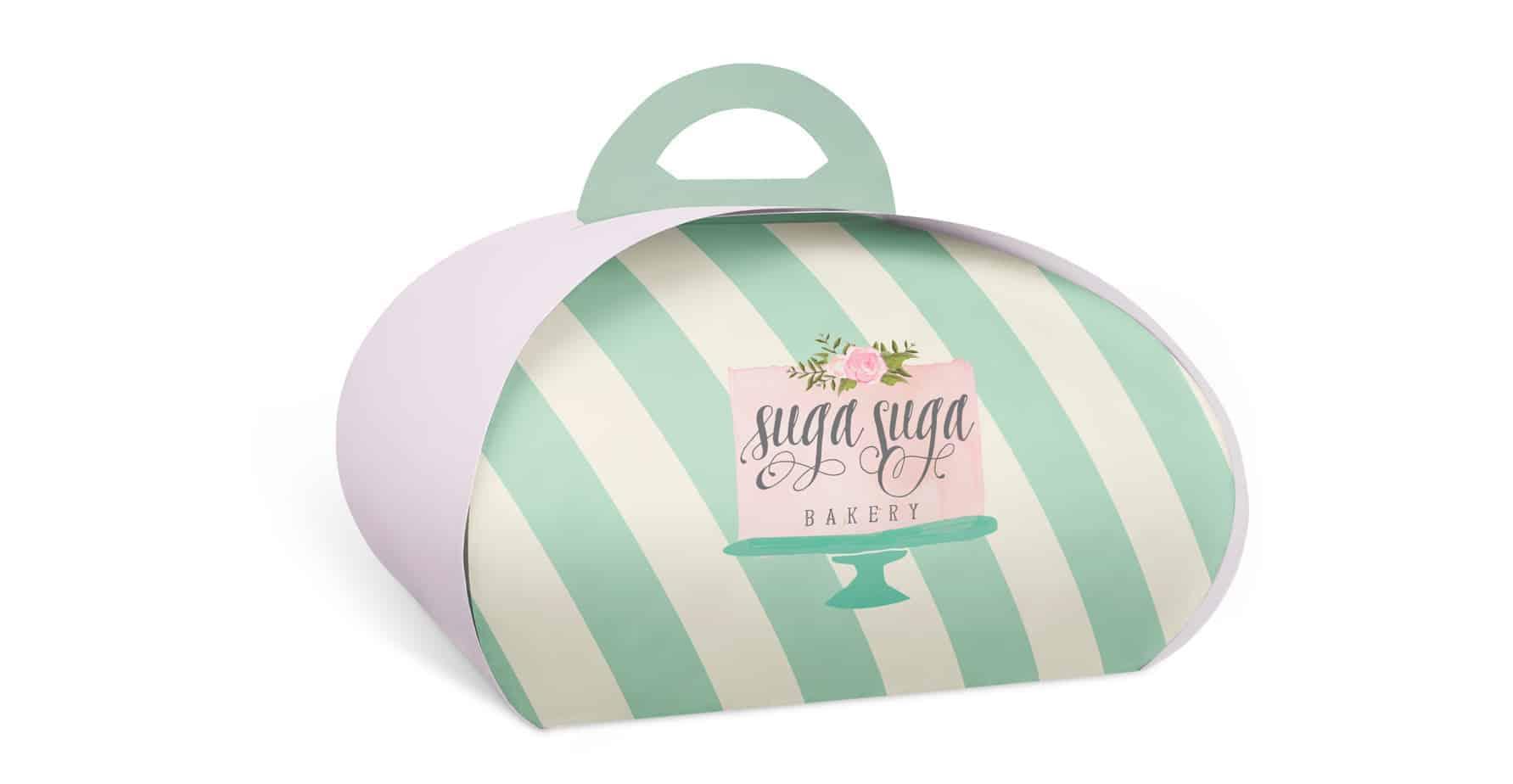 Suga Suga Bakery Custom Printed Cake Boxes - Dome