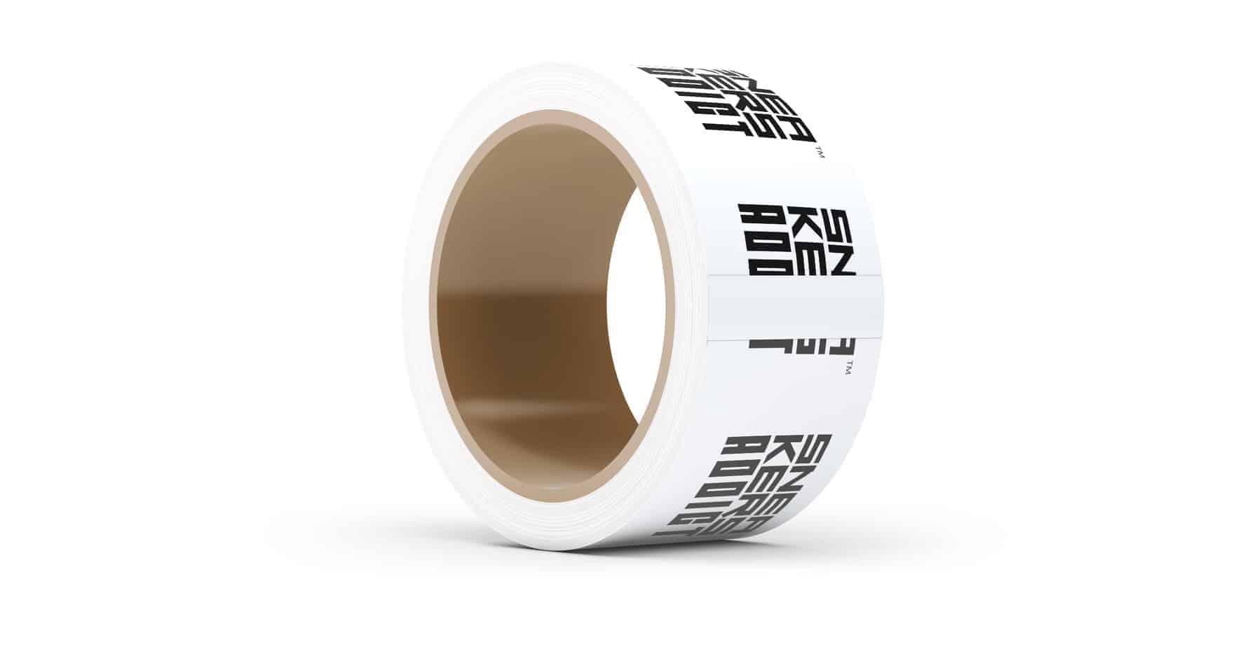 Custom Printed Tape White
