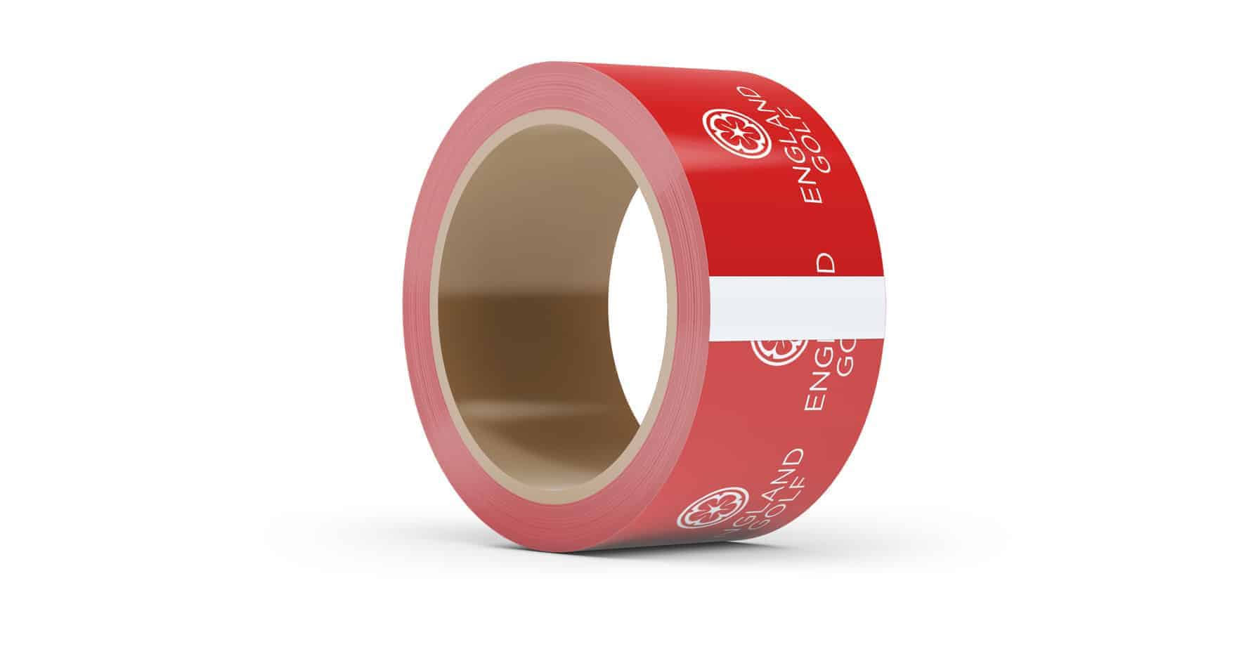 Red Branded Tape