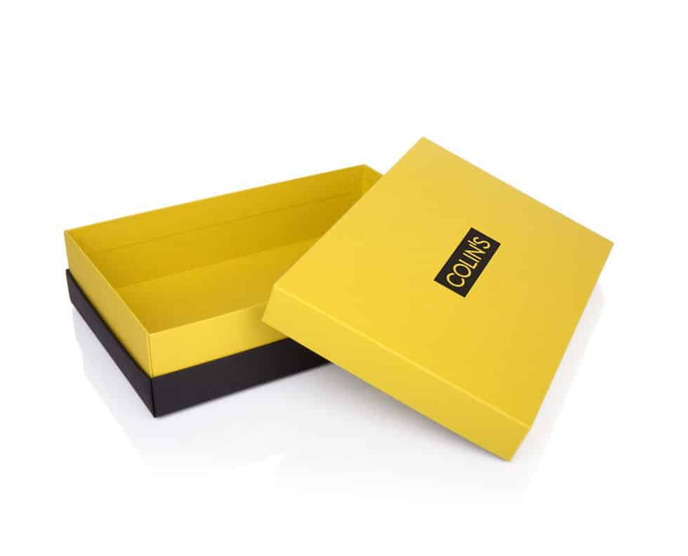 Yellow Black Custom Printed Boxes
