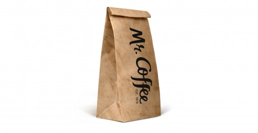Branded Bakery Printed Counter Bags / Custom Kraft Bags