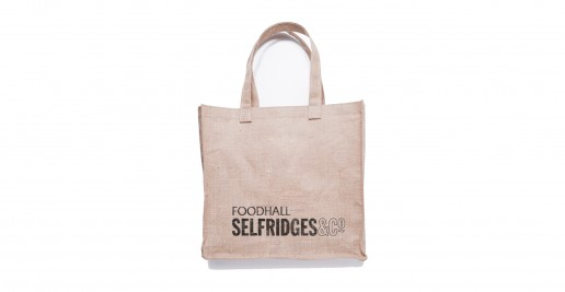 Selfridges Printed Jute Bags / Custom Eco Bags