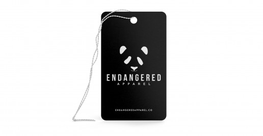 Black White Custom Printed Tags / Hangtags