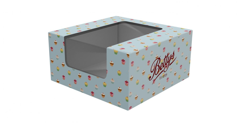 custom printed cake boxes with window