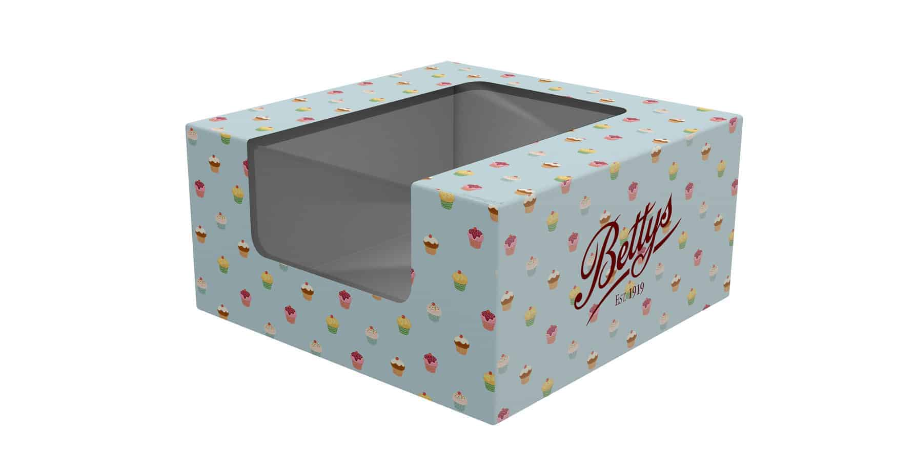 custom printed cake boxes with window