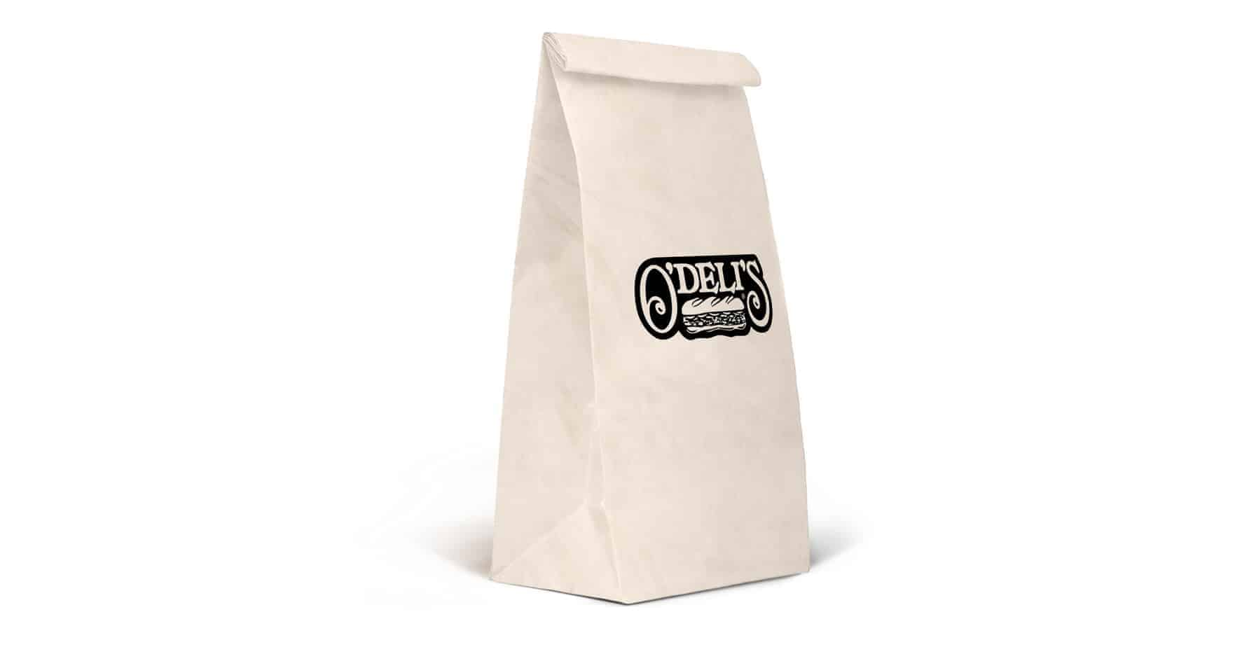 White Printed Counter Bags / Custom Kraft Bags